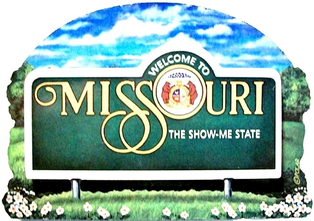 Missouri State Welcome Sign Wood Fridge Magnet 2