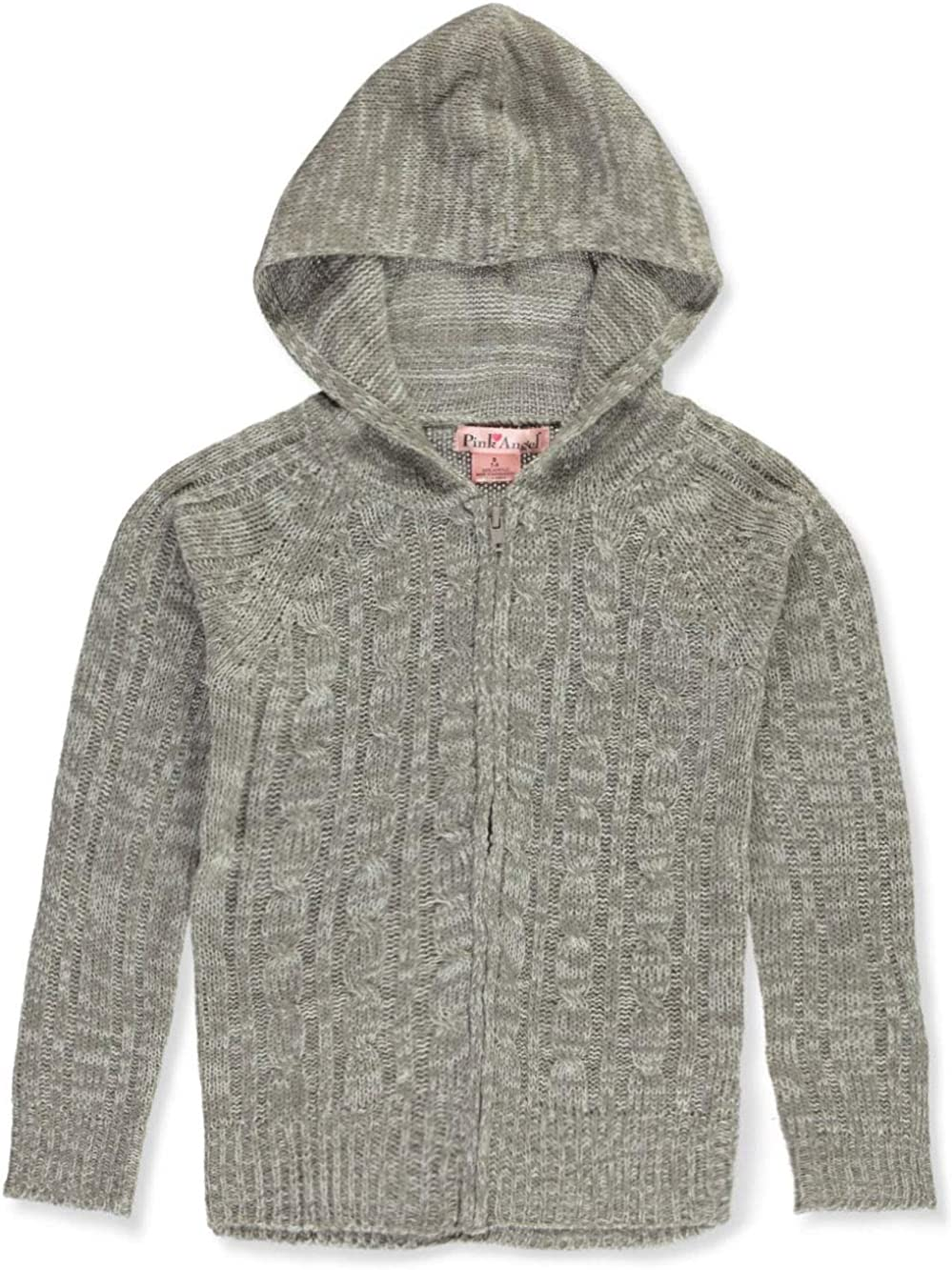 Pink Angel Girls Cable Knit Hooded Cardigan