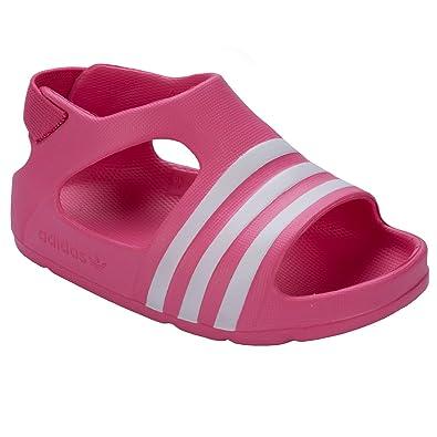 adidas Infant Girls Originals Adilette Sandals in Pink  Amazon.co.uk ... de109e34bf64