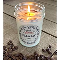 Vanilla Latte Aromatherapy Candle | All-Natural Soy Wax & Colombian Coffee Beans | Essential Oil Infused | Odor…