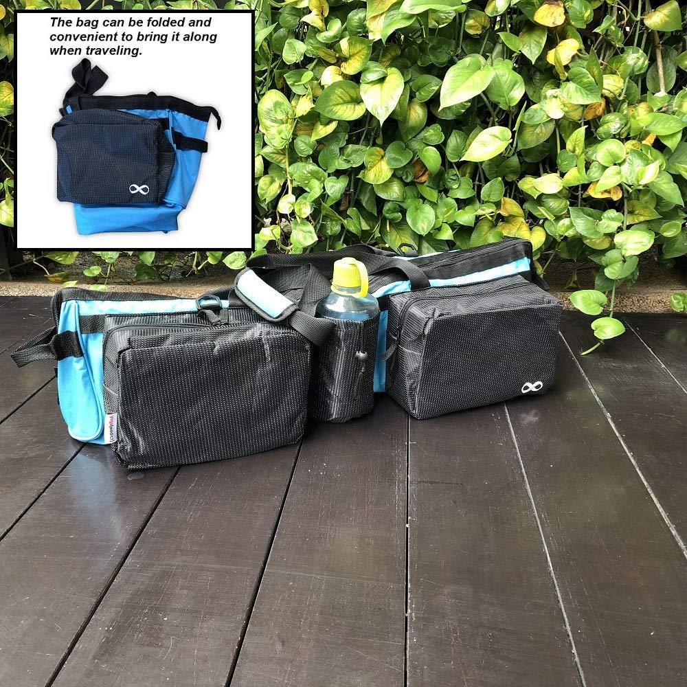 YogaAddict Yoga Mat Tote Gym Bag Supreme con bolsillo, 30