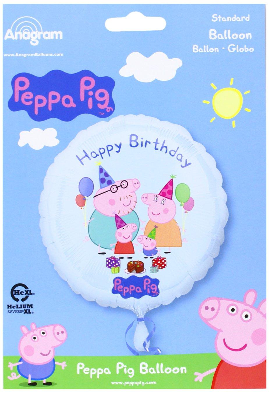 Amscan International - Globo de cumpleaños con diseño de Peppa Pig