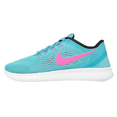 Nike Womens Free RN Running Shoes (5 B(M) US, Blue)
