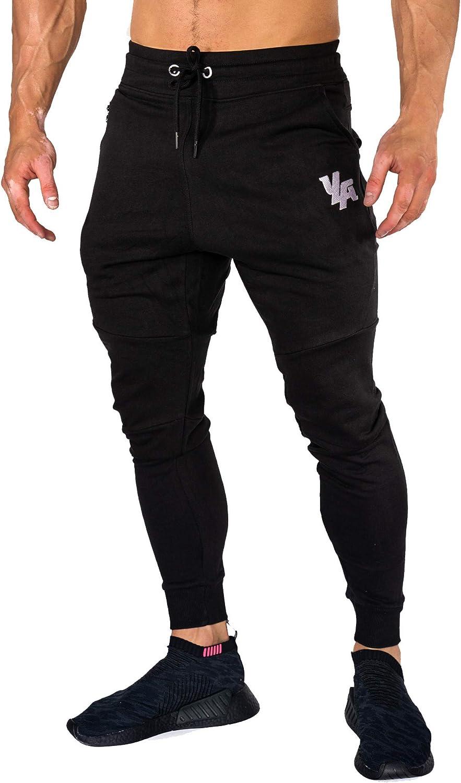 YoungLA Joggers Men Slim Fit Sweatpant Gym Workout Zipper Pocket 202