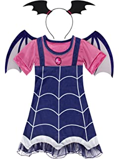 Cotrio Vampire Costumes for Toddler Girls Boo-Tiful Dress Up Cosplay  Birthday Party Dresses 02171b806
