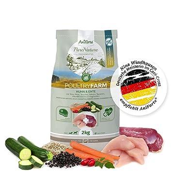 NUEVO aniforte 100% Natural trockenfutter Natural de perros Forro getreidefrei Poultry Farm 2 kg,