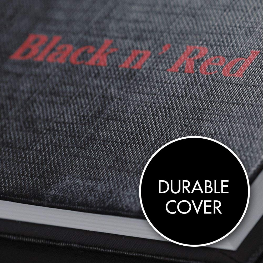 Black n' Red Casebound Hardcover Notebook, 11-3/4'' x 8-1/4'', Black/Red, 96 Ruled Sheets, Sold as 5 Pack (D66174) by Black n' Red (Image #4)