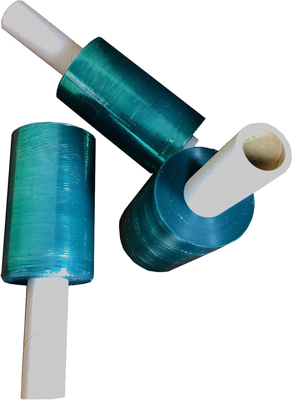 Green Color Extended Core Pallet Wrap Plastic Stretch Wrap 20 x 1000 x 80 Gauge 4 Rolls