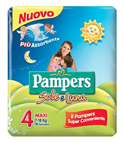 Pampers - Sole e Luna - Pañales - Talla 4 (7 - 18 kg)