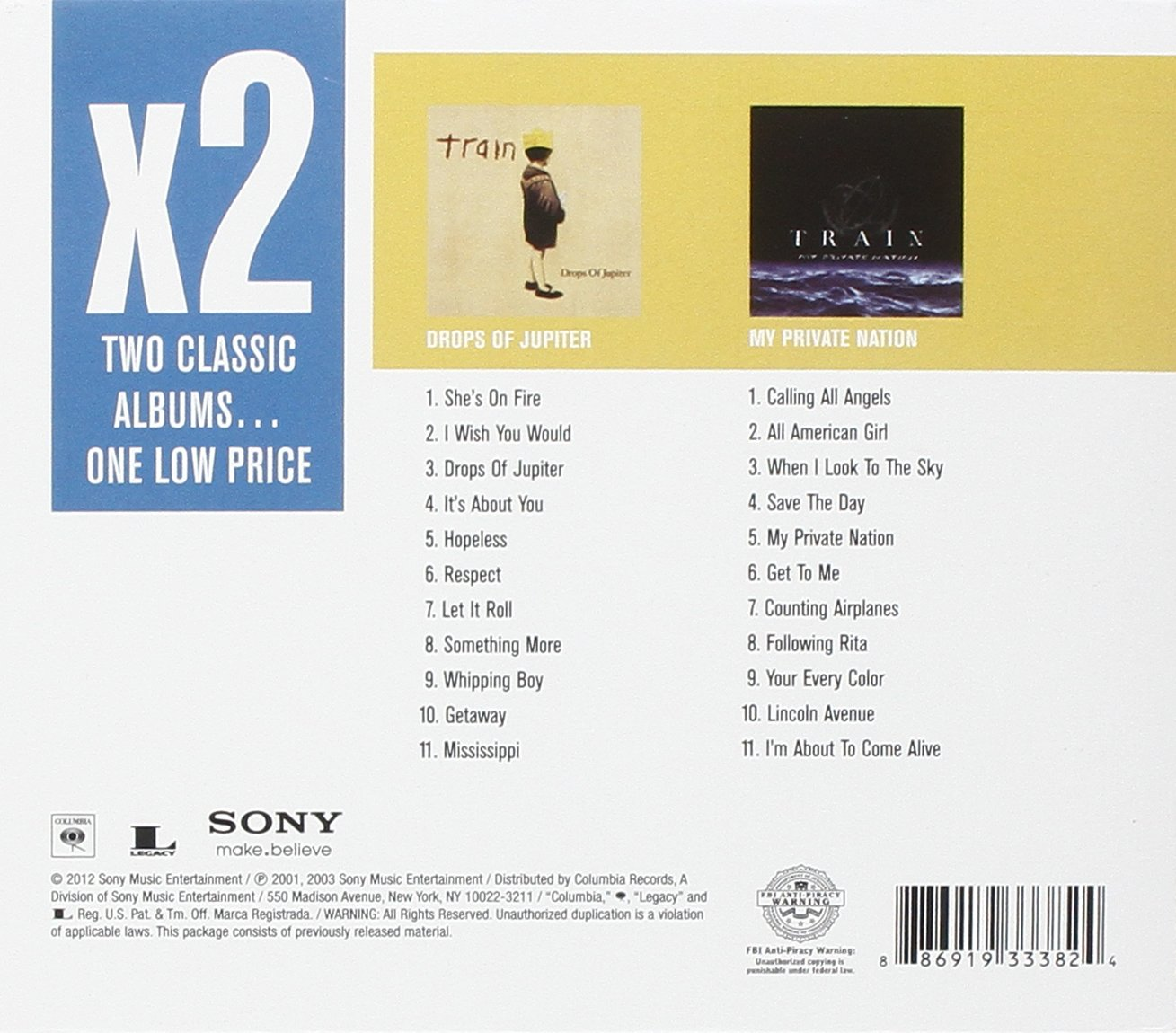 Train X2 Drops Of Jupiter My Private Nation Amazon Music