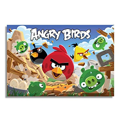 NII Angry Birds 2 pc Video Gaming Poster for Video Game