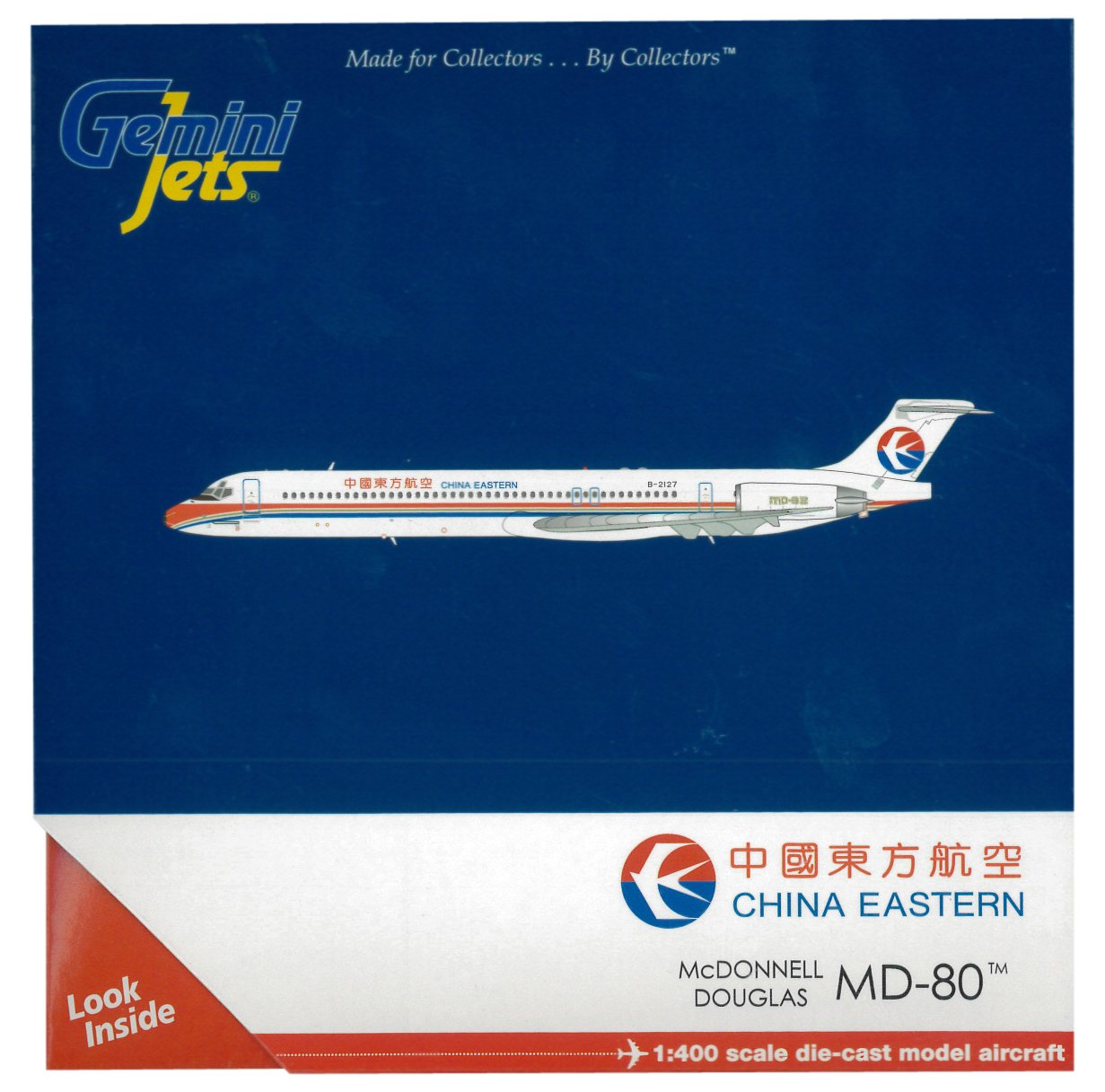 GeminiJets China Eastern MD-80 Diecast Aircraft 1:400 Scale