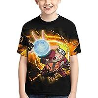 Camiseta Naruto Camiseta para niños Camiseta con Estampado gráfico 3D Camiseta de Manga Corta de Verano para niños