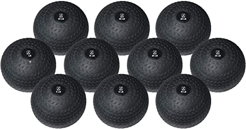 FIT1ST Fitness First Slam Ball, Easy-Grip, Weight Training Crossfit WOD 10-50 LBS