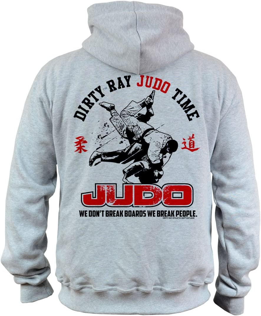 Dirty Ray Artes Marciales Judo Time sudadera hombre con capucha BDT10