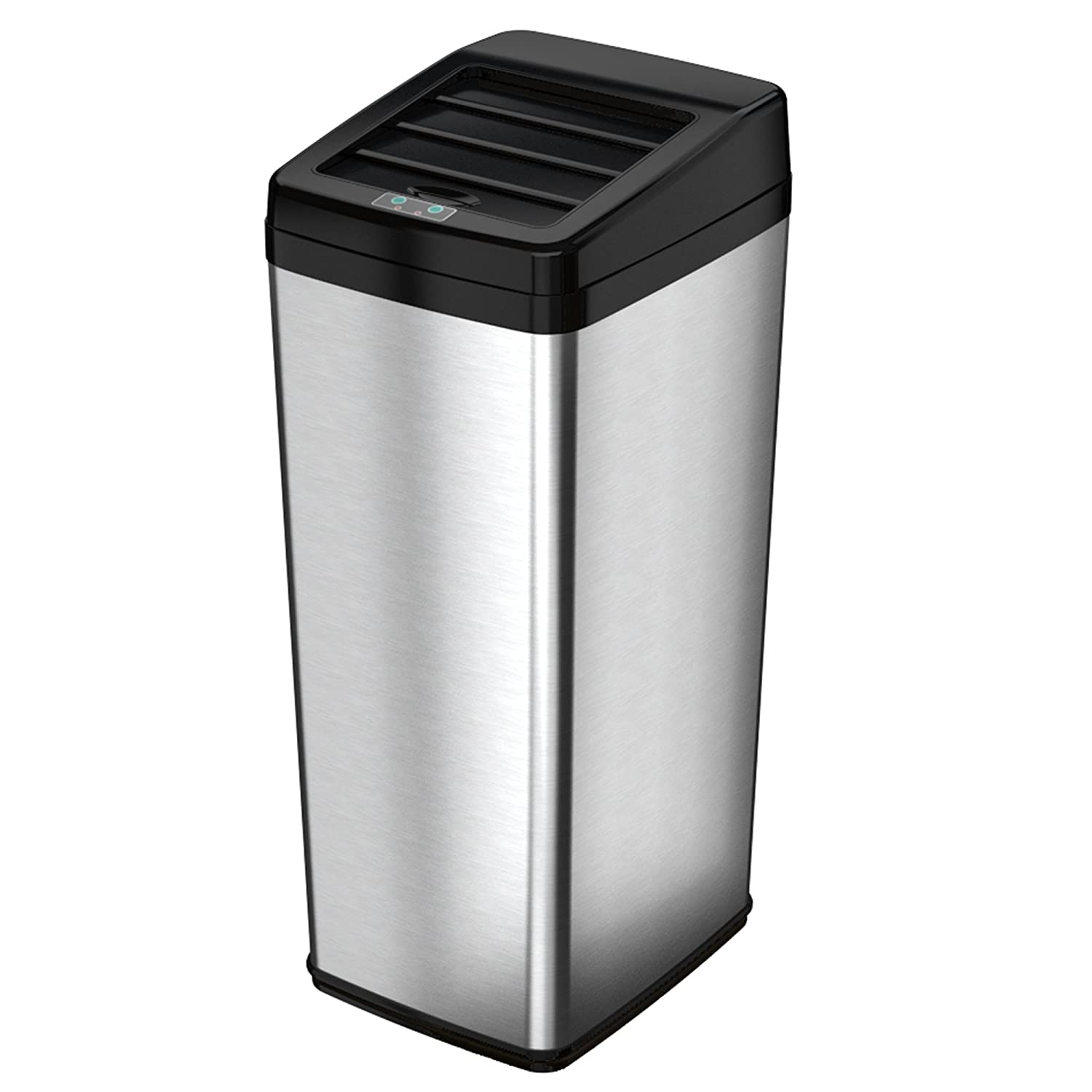 Amazon.com: ITouchless Sliding Lid Automatic Touchless Sensor Trash Can U2013  14 Gallon / 52 Liter U2013 Stainless Steel U2013 Kitchen Trash Can: Home U0026 Kitchen