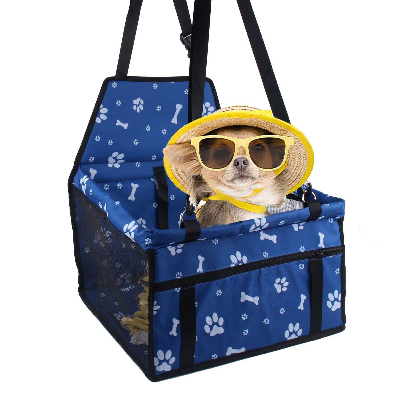 Siège d'auto pour chien, porte-siège pliant et étanche pour chien, avec ceinture de sécurité et sac de rangement pour chiens et chats porte-siège pliant et étanche pour chien Minve