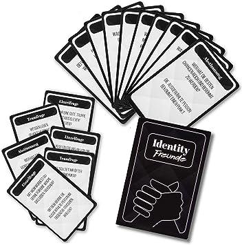 Identity Juego de Cartas Freundes-Edition Game Juego de Mesa para Amigos, Personalidad y Juego de Preguntas con Truco; 3-8 Jugadores VERSIÓN Alemana: Amazon.es: Juguetes y juegos