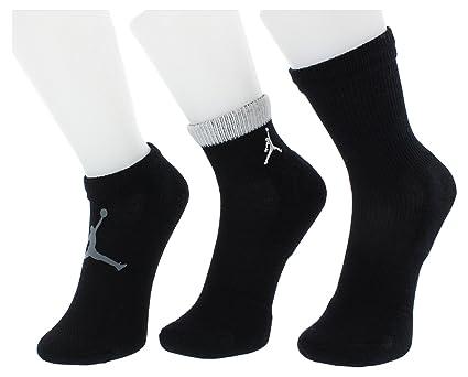 Amazon.com: Jordan 3 Pack Mesh Waterfall Socks - Boys Size 5Y-7Y: Sports & Outdoors