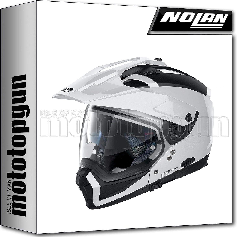 L MOTOTOPGUN NOLAN MOTORRAD CROSSOVER-SYSTEMHELM N70-2 X CLASSIC METAL WEISS 005 SZ