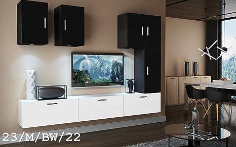 Futura 23 set mobili da salotto moderno, Mobile a parete TV, insieme ...