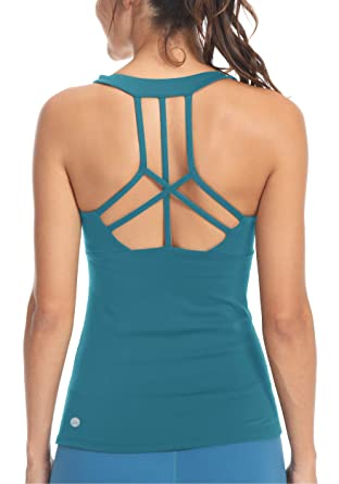 0b33665bd33c9 Queenie Ke Womens Yoga Tops Workouts Clothes Tank Strappy Back Sport Tank  Tops Size XS Color