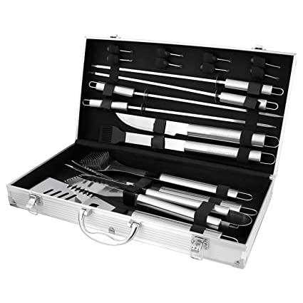 Amazon.com: Bbq masters 19 herramientas profesionales para ...