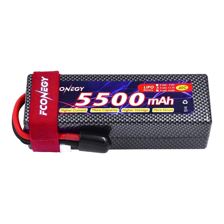 Fconegy 2S 7.4V 3000mAh 40C Batterie Lipo avec Deans//T Prise Plug Battery pour RC Voiture Bateau Camion