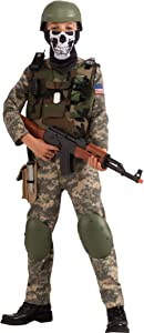 Camo Trooper Value Costume, Child's Medium