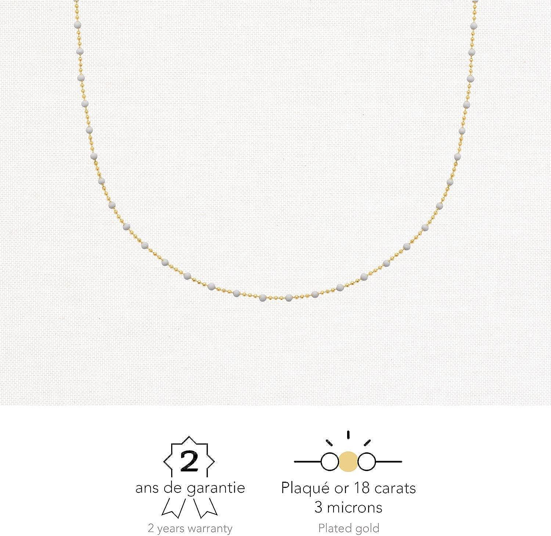 Bijou Femme Perle Bracelets Cha/îne Rendez-vous RueParadis Paris Plaqu/é Or 18 Carats 3 Microns Id/ée Cadeau Printemps