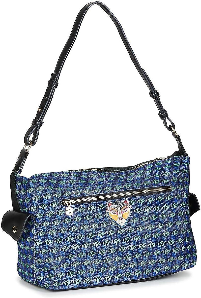 Damentasche Umhängetasche Handbag DESIGUAL Bols Mandala Memphis Azul Tinta