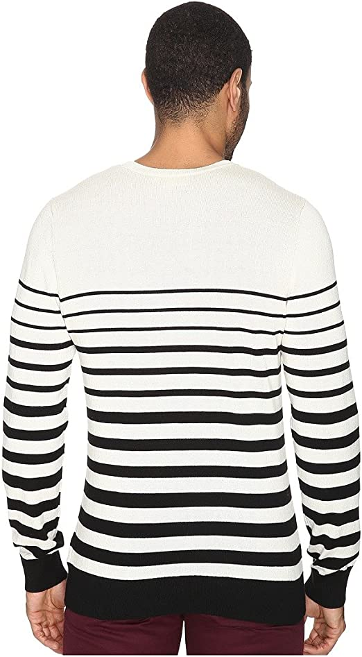 AG Adriano Goldschmied Mens Trench Stripe Tanner Crew
