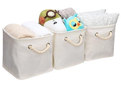 StorageWorks Storage Cube Organizer Bin With Strong Cotton Rope Handle Storage Baskets Of Waterproof Cotton  sc 1 st  Amazon.com & Amazon.com: StorageWorks Storage Cube Organizer Bin With Strong ...