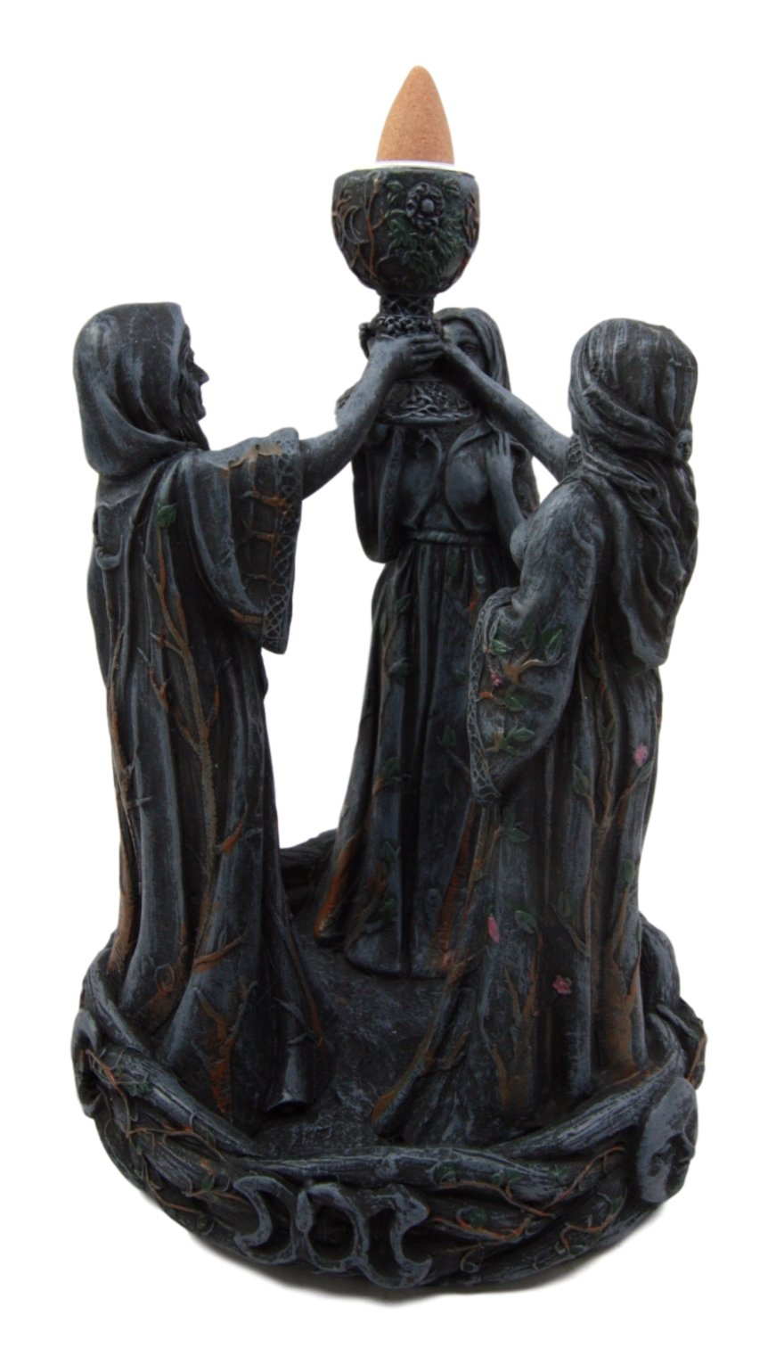 Atlantic Collectibles Wiccan Triple Goddess Maiden Expectant Mother & Crone Pagan Decorative Backflow Incense Cone Burner Figurine by Atlantic (Image #3)