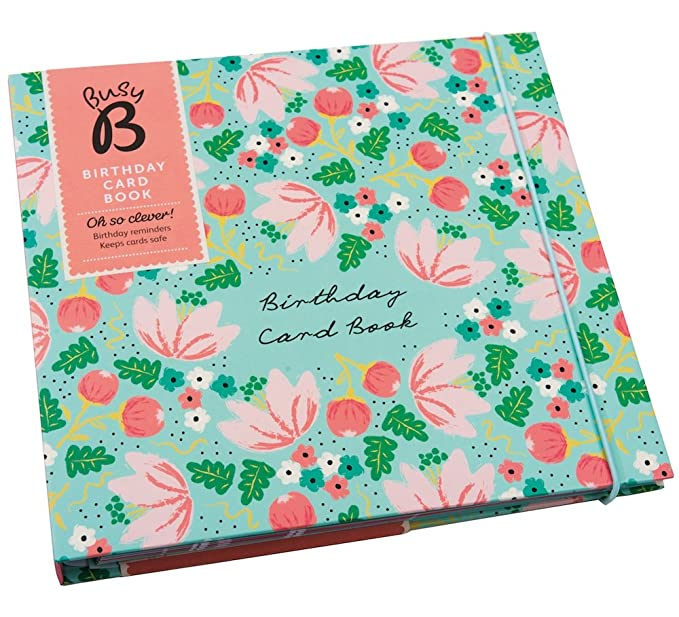 Busy B Birthday Card Book Floral Amazon Office Products