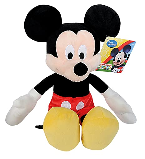 Simba 6315879084 Disney Mickey Mouse Club House Basic - Peluche de Mickey (43 cm)