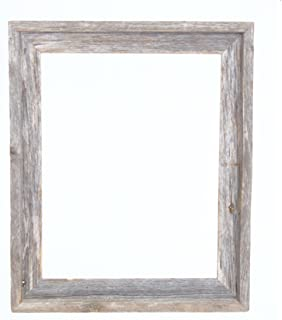 barnwoodusa signature reclaimed rustic barnwood open frame no glass or back 11x14