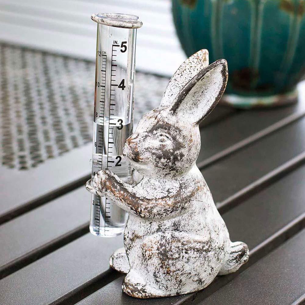 Colonial Tin Works Bunny Rain Gauge