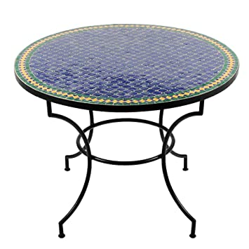 Moroccan Mosaic Table Fareo 100 cm Round Table Dining