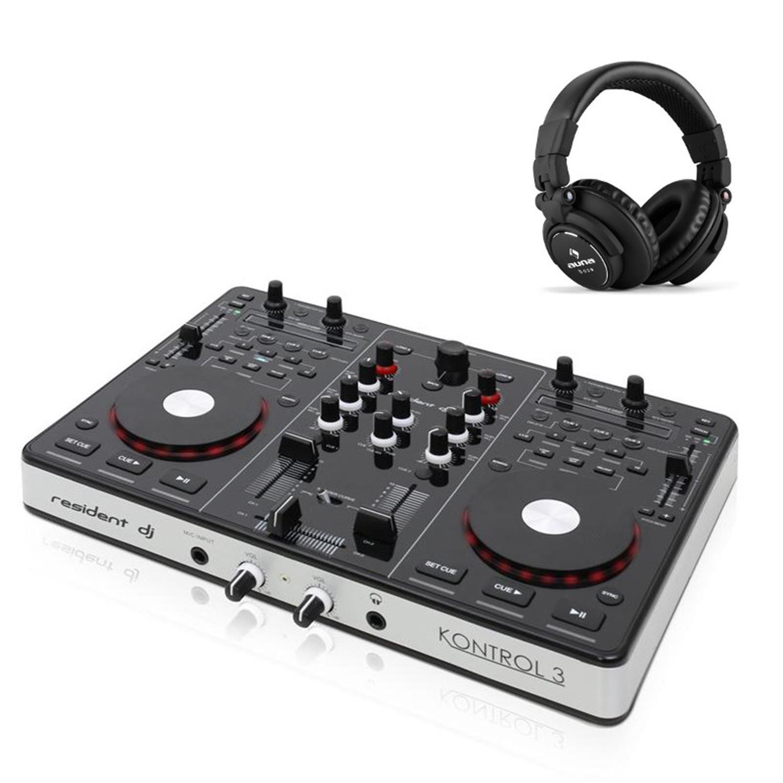 Resident dj Kontrol 3 Controlador DJ USB-MIDI tarjeta sonido ...
