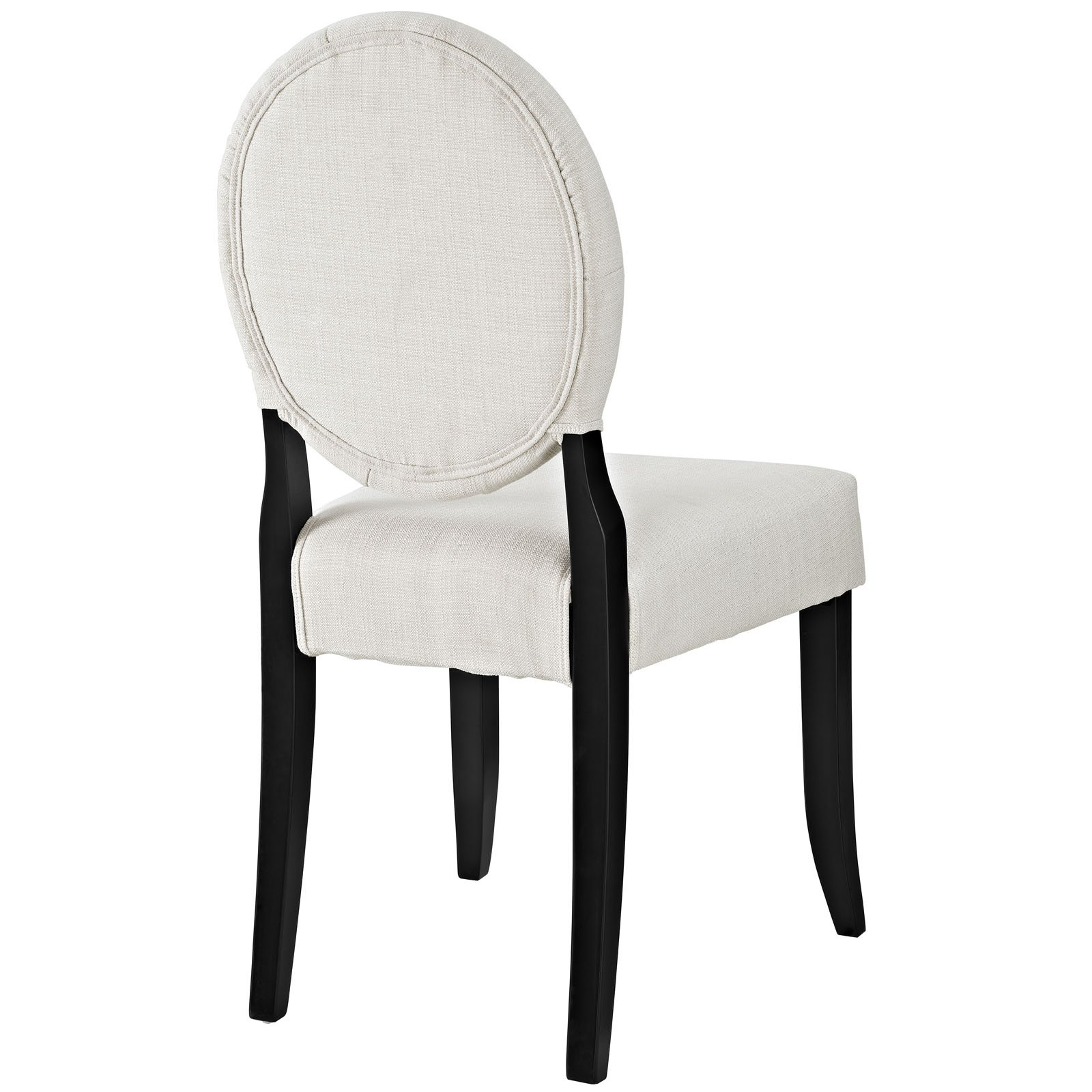 Modway Button Dining Side Chair, Beige by Modway (Image #4)