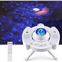 Proyector Estrellas, Proyector de Lámparas Luna, Luz Nocturna Océano, 43 Modo de Luz, Altavoz de Música Bluetooth…