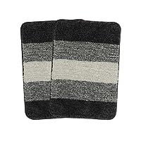 Saral Home Soft Microfiber Bathamat (Pack of 2, 35x50 cm)