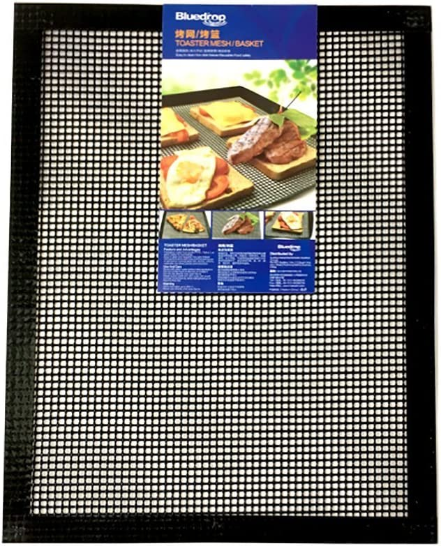 Bluedrop Baking Sheets Oven Liners Crisper Toaster Mesh Crispy Sheets Perforated PTFE Baking Liners For Pizza Non Stick Pads