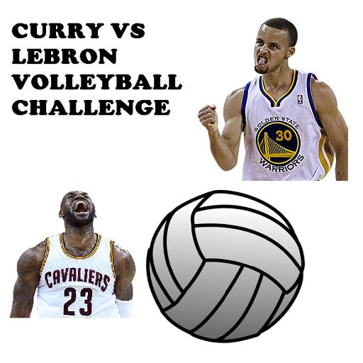 curry vs lebron volleyball challenge game