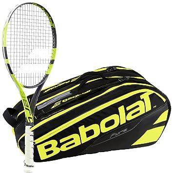Amazon.com: Babolat Pure Aero Lite Amarillo/Negro Raqueta de ...