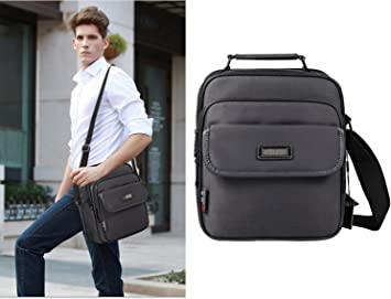 Parent-Child Package Bag Mens Waterproof Messenger Sling Casual Oxford Travel Business Leather Crossbody