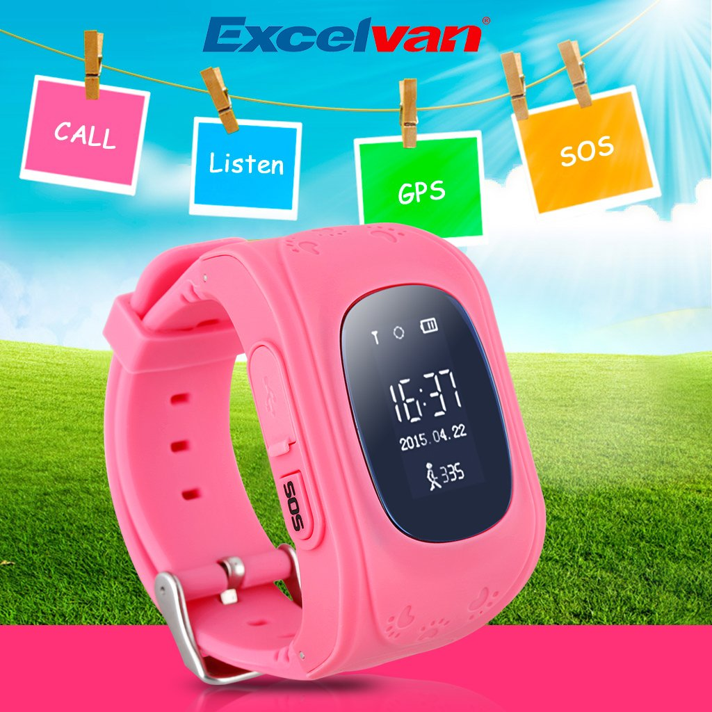 Amazon.com: Excelvan Q50 Kids Smart Watch GPS LBS Double ...