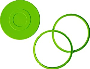 3-Pack Compatible Instant Pot Sealing Rings 8 Quart and Instant Pot Silicone Lid Cover [3qt 6qt avail], Instapot Accessory Airtight Lid and Rings for Instant Pot Accessories (2 Rings, 1 Lid)