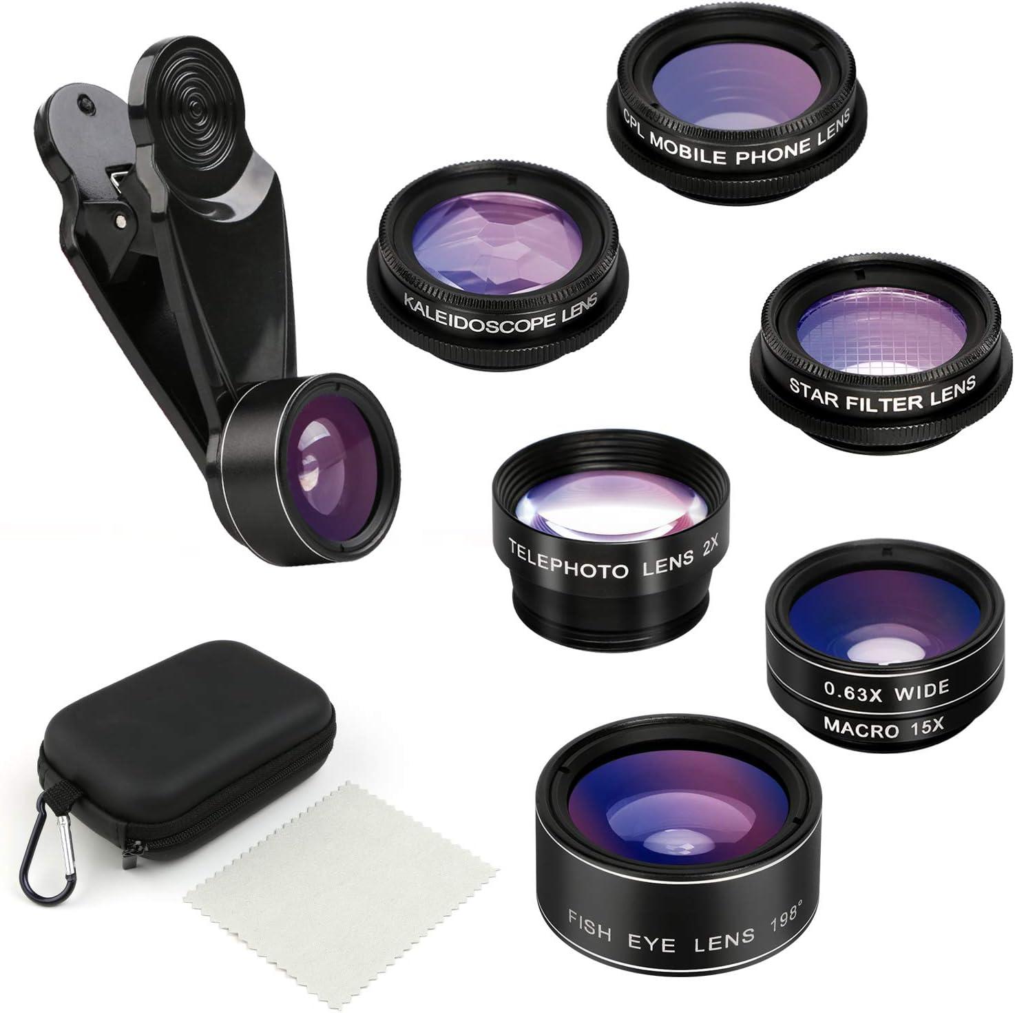 kits de lentes de teléfono celular 7 en 1